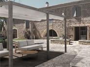 Freestanding wooden pergola with sliding cover VENERE - ALCE