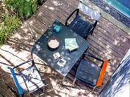 Garden chair with armrests VENICE | Garden chair - Magis