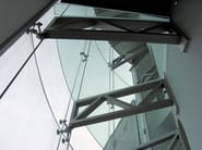 Stainless steel Anchorage system and profile for a facade ASTRA A - Nuova Oxidal