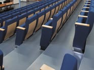 Fabric auditorium seats with writing tablet VICTORY 200 - Emmegi