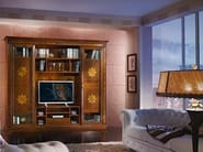 Solid wood TV wall system VIVRE LUX | TV wall system - Arvestyle