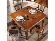 Extending solid wood table VIVRE LUX | Square table - Arvestyle