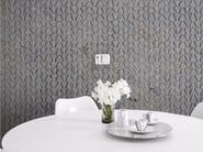 Motif panoramic wallpaper VOCALESE TRECCIA - Inkiostro Bianco