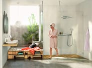 Wall-mounted rain shower with arm RAINMAKER SELECT | Wall-mounted overhead shower - HANSGROHE
