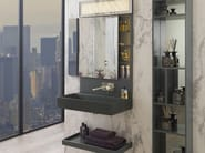 Wall-mounted vanity unit with mirror PURE LINE | Wall-mounted vanity unit - NOKEN DESIGN