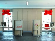Sound absorbing free standing workstation screen WALL SYSTEM – OPEN SPACE - Arcadia Componibili - Gruppo Penta