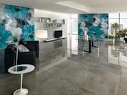 Relief panoramic nonwoven wallpaper WALLPAPER LUX CAMPANULA - AVA Ceramica by La Fabbrica