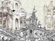 Trompe l'oeil wallpaper LA FORZA DI GRAVITA' - Wallpepper