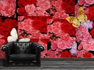 Wallpaper with floral pattern CARNATION - Wallpepper