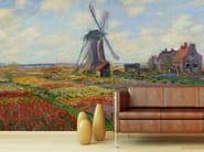 Trompe l'oeil wallpaper CHAMPS DE TULIPES EN HOLLANDE - Wallpepper