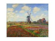 Carta da parati trompe l'oeil CHAMPS DE TULIPES EN HOLLANDE - Wallpepper