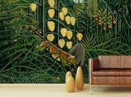 Wallpaper GIUNGLA CON BUFALO ASSALITO DA UNA TIGRE - Wallpepper
