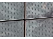 Sound absorbing stainless steel wall tiles WEATHER - GATTI PRECORVI
