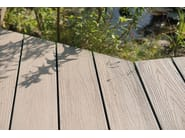 Composite material outdoor floor tiles with wood effect EXTERNO WHITE - Woodco