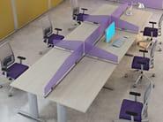 Pannello divisorio da scrivania in nobilitato FLEXI OPEN | Pannello divisorio da scrivania - Arcadia Componibili - Gruppo Penta