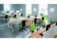 Sectional workstation desk X2 | Sectional office desk - Quadrifoglio Sistemi d'Arredo