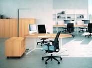 Oval workstation desk X2 | Oval office desk - Quadrifoglio Sistemi d'Arredo