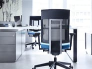 Swivel task chair with 5-Spoke base with armrests XENON NET 101SL - profim