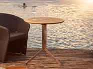 Tavolo da pranzo pieghevole in teak YIX | Tavolo rotondo - solpuri