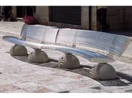 Curved Bench with back ZEBRA | Curved Bench - Bellitalia