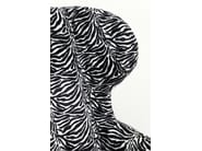 Polyester armchair with armrests ZEBRA - KARE-DESIGN