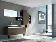 Mobile bagno / mobile lavabo in marmo tecnico ZERO4 MARMO - COMPOSIZIONE 14 - Arcom