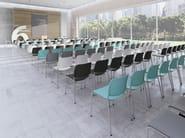 Sedia da conferenza a sbalzo impilabile in plastica con braccioli ZOO 522V - profim