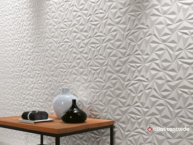 White-paste 3D Wall Cladding 3D WALL DESIGN ANGLE