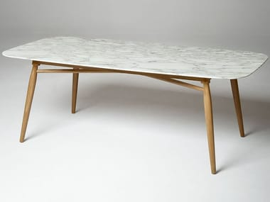 Rectangular marble dining table AGAVE By ALIVAR design Angeletti