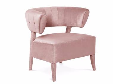 Cadeira lounge de tecido com braços AILEEN