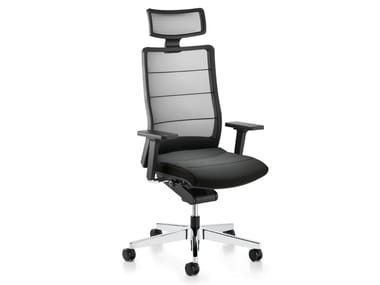 Swivel mesh executive chair with 5-spoke base with headrest AIRPAD 3C72
