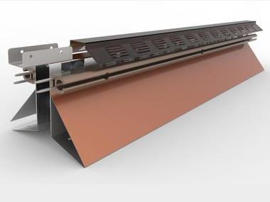 Stainless steel ridge tile AIRSAFE PLUS