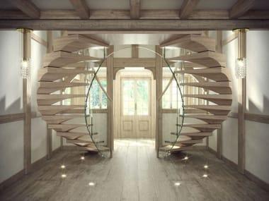 escalera volada de madera maciza anaconda escalera volada de madera maciza