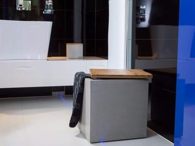 Wäschesammler Design wäschesammler aufbewahrungsbox aus beton angulus depono by co33