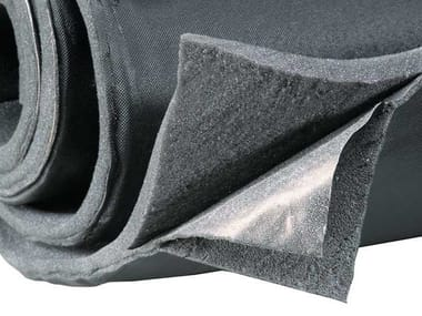 Sound insulation and sound absorbing felt with lead-laminate APLOMB