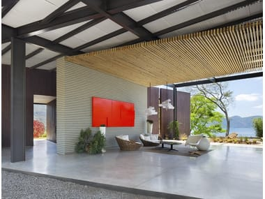 Ultra thin indoor/outdoor polymere concrete flooring with concrete effect ARCHITOP®