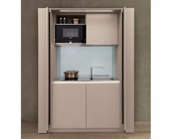 euromobil arte cabinet hideaway mini kitchen antis fusion fitted kitchens euromobil