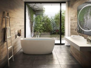 Freestanding composite material bathtub ATTITUDE