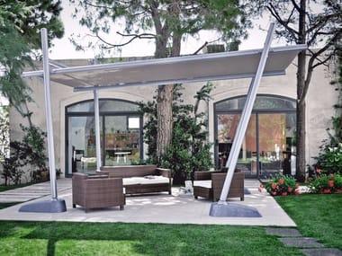 sombrilla rectangular de aluminio bamboo