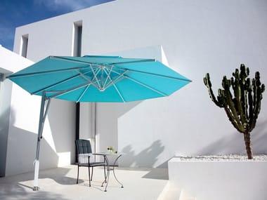 Ampel verstellbarer runder Sonnenschirm BELVEDERE | Runder Sonnenschirm