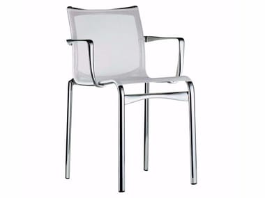 Stackable mesh chair with armrests BIGFRAME - 440