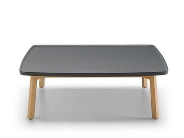 Low Oak Coffee Table Breda Square Coffee Table