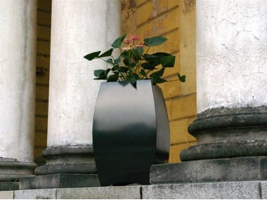 Galvanized plate plant pot BUBLE'