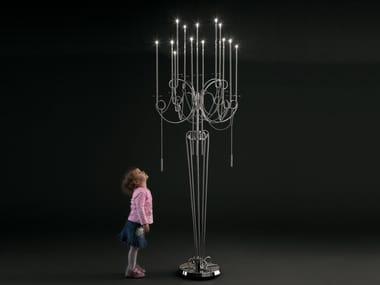 Lampada da terra a LED in acciaio CALLIGRAFICO | Lampada da terra