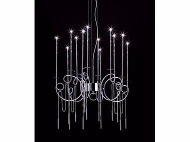 Lampada a sospensione a LED in acciaio CALLIGRAFICO NITY 12L LED | Lampada a sospensione a LED