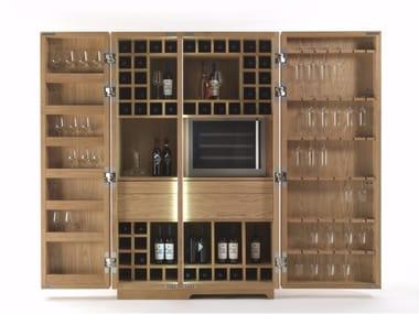 Mobile contenitore in legno massello CAMBUSA WINE & WINE JUMBO