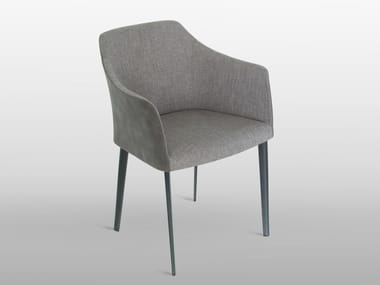 Fabric easy chair with armrests CARMEN