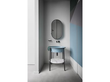 Mobile lavabo freestanding singolo CATINO OVALE