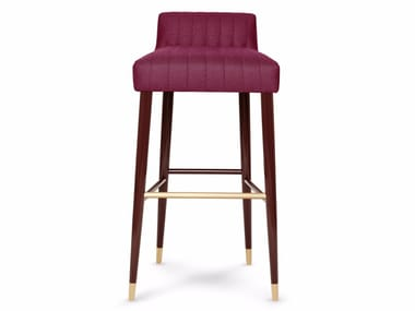high fabric barstool with footrest charlotte