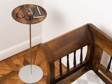 Walnut coffee table / pin tray CIRCULUM WAVE STANDING